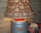 Vintage Woodland Metal Thermos Water Jug Lamp ...Sale