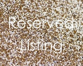 Reserved Glitter Banner for MELISSA