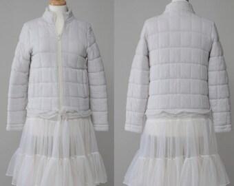 Repurposed women's sweatshirt jacket coat vintage S