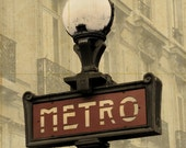 """Paris Metro Street Sign Large 16"""" x 20"""" Canvas-Wrapped Frame: Two"""