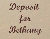 Deposit Listing for Bethany