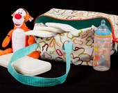 CUSTOM Cotton Zippered Diaper Bag
