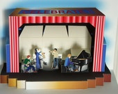3D Pop-up Jazz Band card any occasion Celebration Popup card