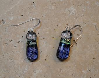 Dichroic Fused Glass Earrings - BHS01256