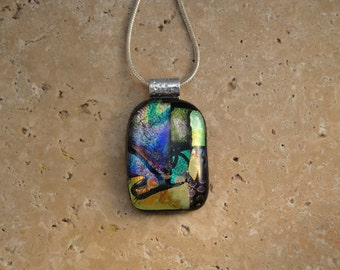 Fused Dichroic Glass Pendant - BHS01407