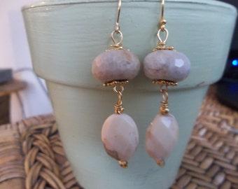 Ocean Jasper & Gold Vermeil Dangle Earrings