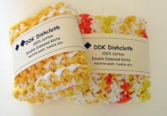 Dishcloths or Washcloths, set of 2 100% cotton