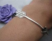 bracelet---ARROW, real leather arrow bracelet---Z218