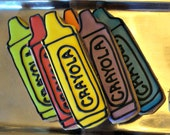 Crayon Cookies Decorated Cookies Birthday Cookie Favors Back To School Cookies
