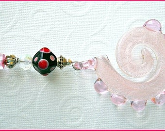 Pink and Black Swirl Ceiling Fan Pull