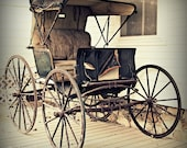 Carriage, Antique, Wagon, Buggy, Fine Art Print, Square, 10x10 Photograph, 'Horse Drawn'