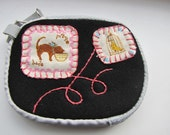Embroidered and Appliqued Coin, Reward Card, Ipod Nano Case
