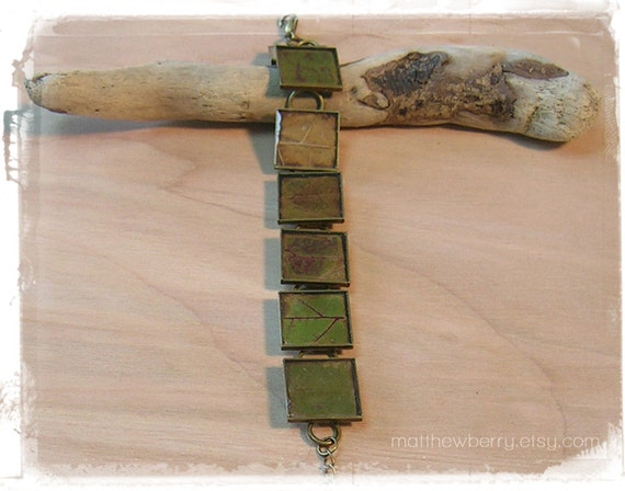 Autumn Leaf Bracelet - Real Leaf Resin Jewelry