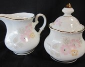 Beautiful and Perfect Winterling Theresa China Creme and Sugar set made in Germany