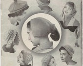 Patons Knitting Book No. 524 -  Vintage Knitting Crochet Patterns for Ladies and Girls HATS