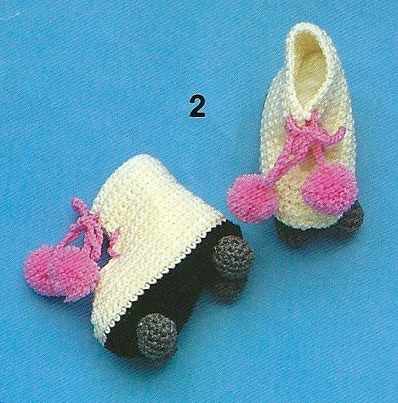 Patons 652 - Booties Galore - patterns to knit and crochet - rollerskates, sneakers, football bootees