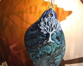 Tree of Life Paua Shell  Pendant