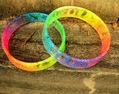 Rainbow Lava Glitter Bangle