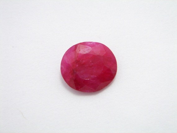 Ruby Gemstone faceted Cabochon. very well polished