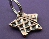 OOAK Small Star Shaped Pet Tag With Texture