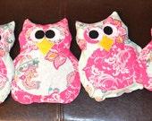 CUSTOM LISTING for Beth: Owl Rice Microwavable Heating Pad (ONE pad)