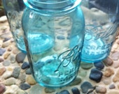 Quart Blue/Aqua Mason Jars-Set of 3
