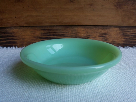 "Fire King Jadeite Bowl - Berry or Desert 4.5"" Vintage 1950s"