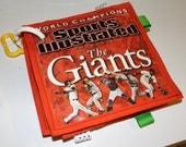 Personalized Baby Newspaper or Magazine (Sports, Baseball, MLB, San Francisco, Giants, SF Giants): crinkle taggie