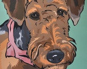 Pet Portrait pop art - Airedale Terrier