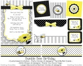 Printable Bumble Bee Birthday Party