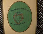 Mans Heart Framed Embroidery
