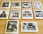 Artistic Greeting Cards Set (10 cards): from original pencil drawing artwork