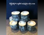 12 Tea light candle holders rustic wedding decor