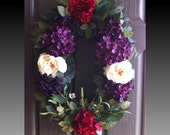 Hydrangea Spring Wreath Summer Wreath Door Wreath Floral Wreath Designer wreath Flower Wreath