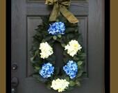 Hydrangea Love Spring Wreath Summer Wreath Front  Door Wreath Floral