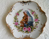 Beautiful Mother Mary and Christ Child Wall Plate.