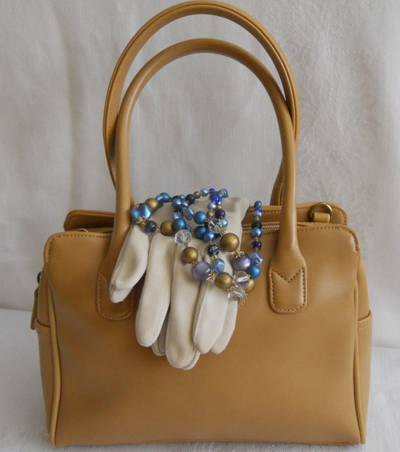 RESERVED    Neutral Go Anywhere Liz Claiborne Double Strap Purse. Camel.