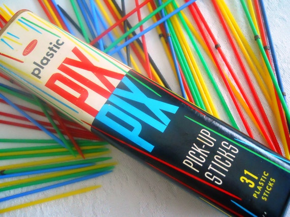 Pick Up Sticks Game by Whitman. Double Quantity.