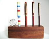 Desk Organizer Wooden 5th Anniversary Gift
