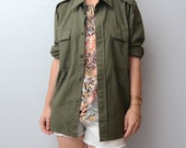Vintage army olive green shirt