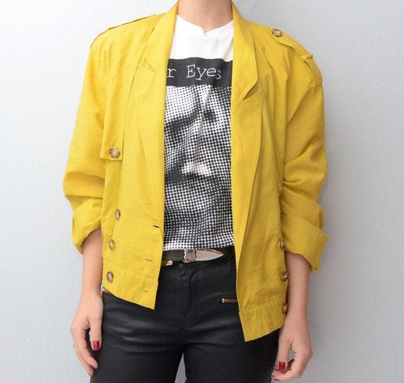Vintage Mustard Yellow Silky jacket