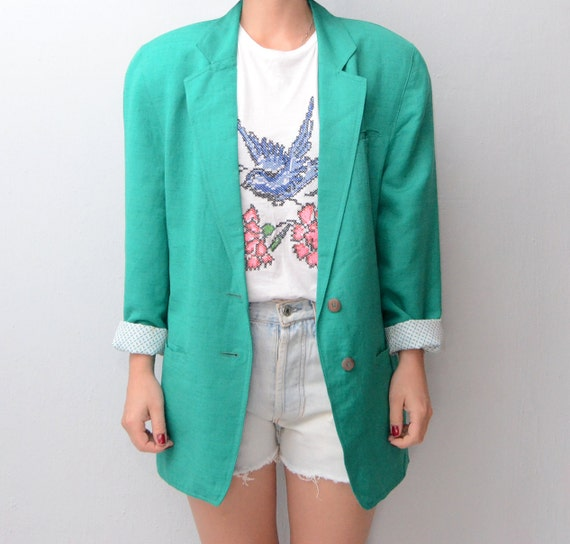 Vintage Mint green Blazer