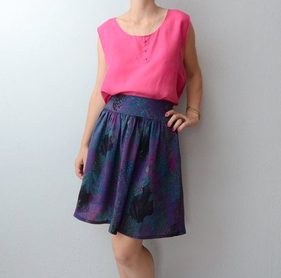 Vintage Night in the Forrest deep purple skirt
