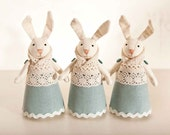 Set of 3. Rabbits handmade. Home Decor. Art. Decorative Toys For Room, Child's Room Decoration