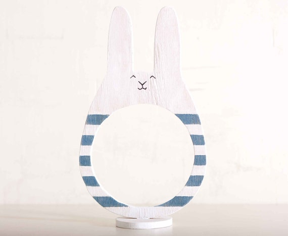 Wooden photo frame in a gift box, Bunny, Rabbit, Home Decor. Art. Decorative Toys For Room, Child's Room Decoration