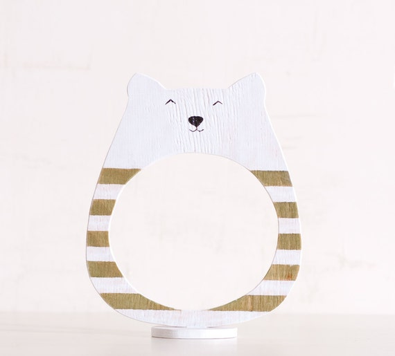 Wooden photo frame in a gift box, Cat, Home Decor. Art. Decorative Toys For Room, Child's Room Decoration