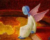 Angel of the continents - Original ACEO -