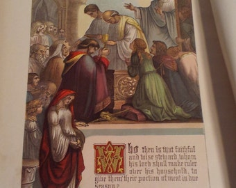 Bible 1800s Color Page Wise Steward