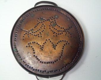 Vintage Pfaltzgraff Solid Copper Punched Trivet