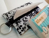 Black and white floral tissue case , tissue holder , tissue cover, party favors idea